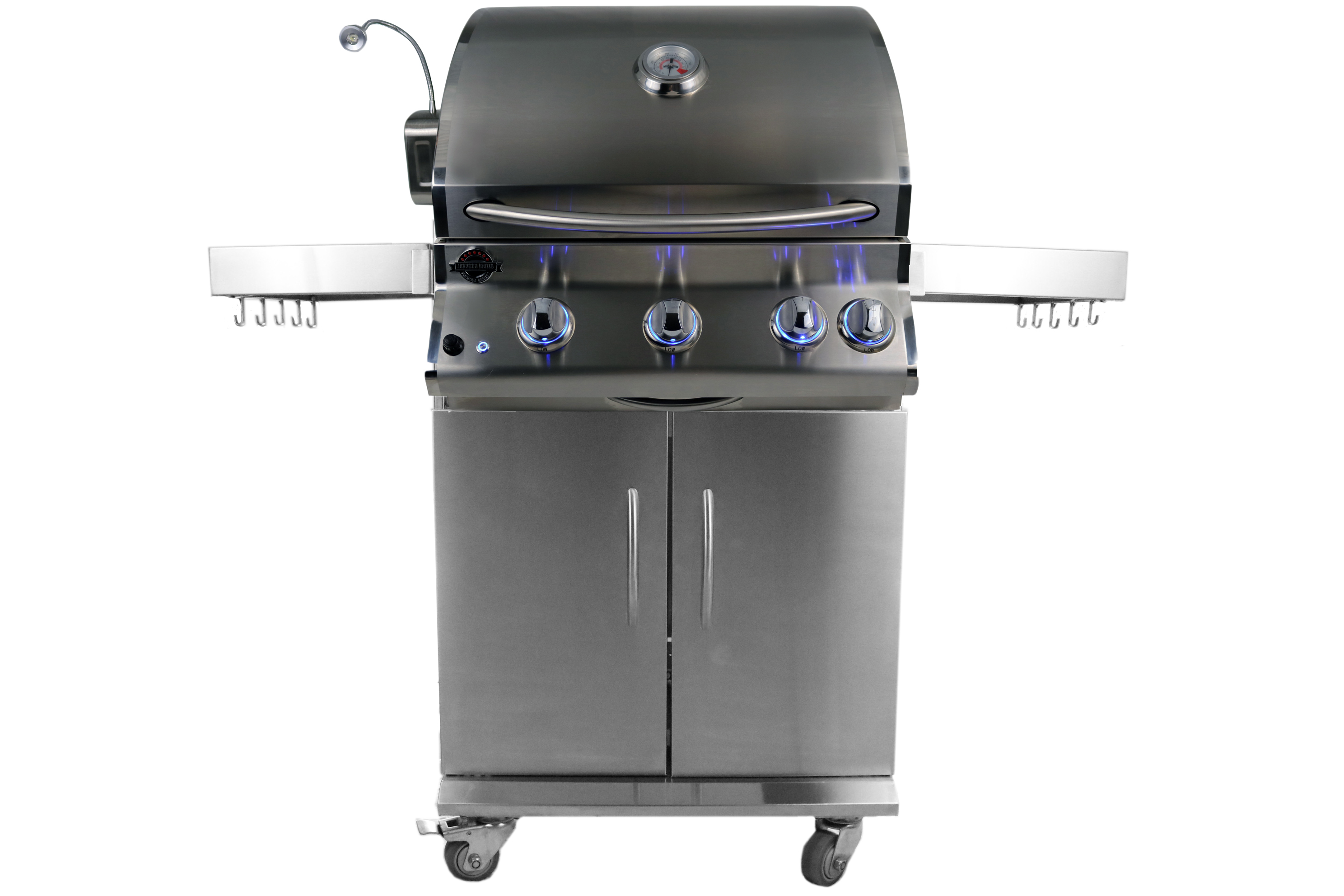 Supreme 550 stainless steel gas grill with cart